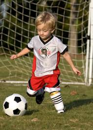 Soccer with child